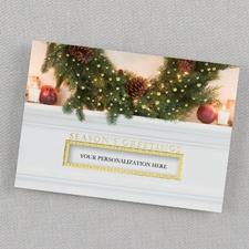 Holiday Mantel Holiday Card