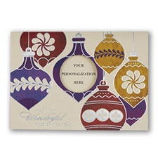 Ornament Menagerie Holiday Card