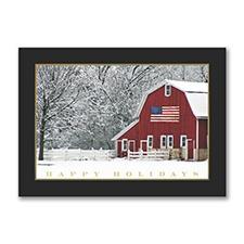 Holiday Barn Card
