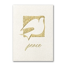 Golden Peace Holiday Card