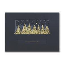 Midnight Treeline Holiday Card