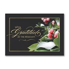 Gratitude At The Holidays Card
