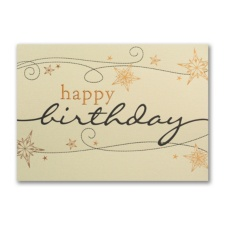 Golden Birthday Swirls - Birthday Card