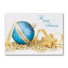 Tis The Season - Blue Holiday Card