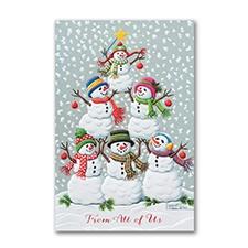 Tree of Snowmen - Holiday Card