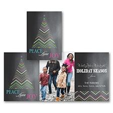Chevron Tree - Photo Holiday Card
