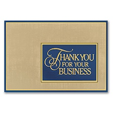 Thank you postcards business