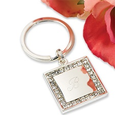 Jeweled Square Key Ring