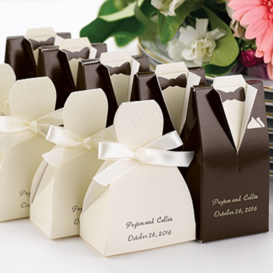 Ivory Gown Favor Boxes