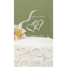 Linked At The Heart Cake Top
