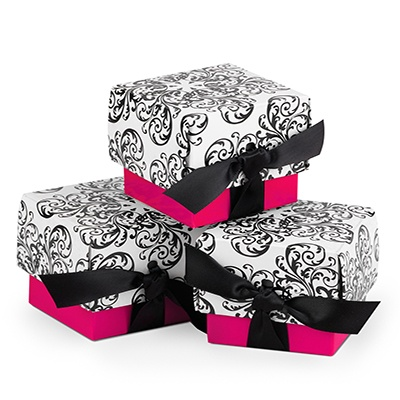 Filigree Favor Boxes - Fuchsia