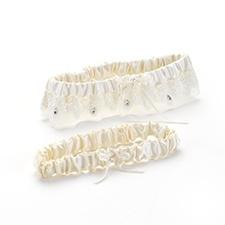 Sparkling Elegance Keep and Toss Garter Set - Ivory