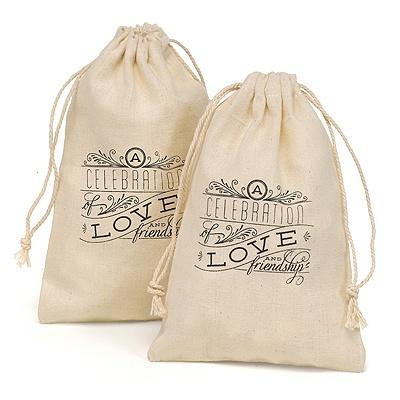 Cotton Favor Bags - Celebration