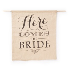 Rustic Here Comes the Bride Sign