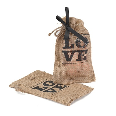 Love Burlap Favor Bag