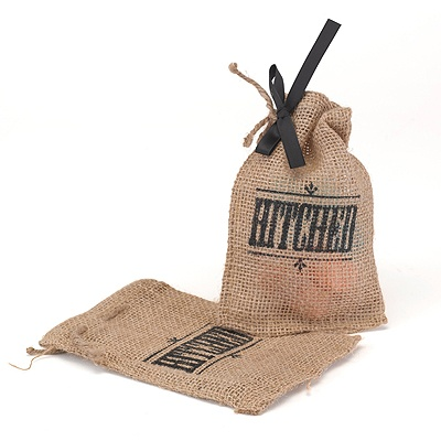 Hitched Burlap Favor Bags