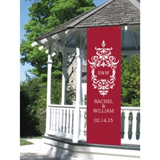 Damask Personalized Banner