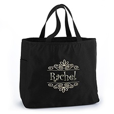Flourish Frame - Tote Bag - Black