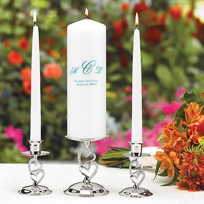 Monogram Unity Candle Round - White - Personalized