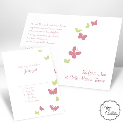 Butterflies in Flight - Petal - Invitation