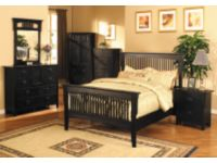 6 Piece Mission Style Black Bedroom Set