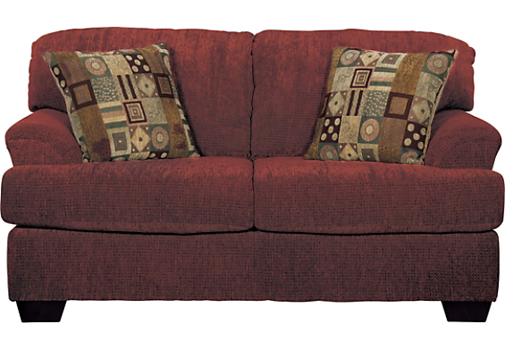 Contemporary Chenille Burgundy Loveseat | 565 x 391 · 242 kB · jpeg