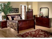 Louis Phillipe Cherry 6 Piece Queen Bedroom Package