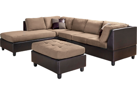 The brick sectional sofas document moved chenille 2 for Sectional sofa bed brick