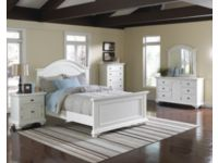 6 Piece Brook White Finish Queen Panel Bedroom Set