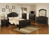 Brook Black Queen 6 Piece Bedroom Package
