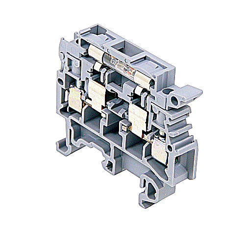 ABB 011566121 Entrelec M 4/8.SFL Block With Fusion Indicator Neon Gray Terminal
