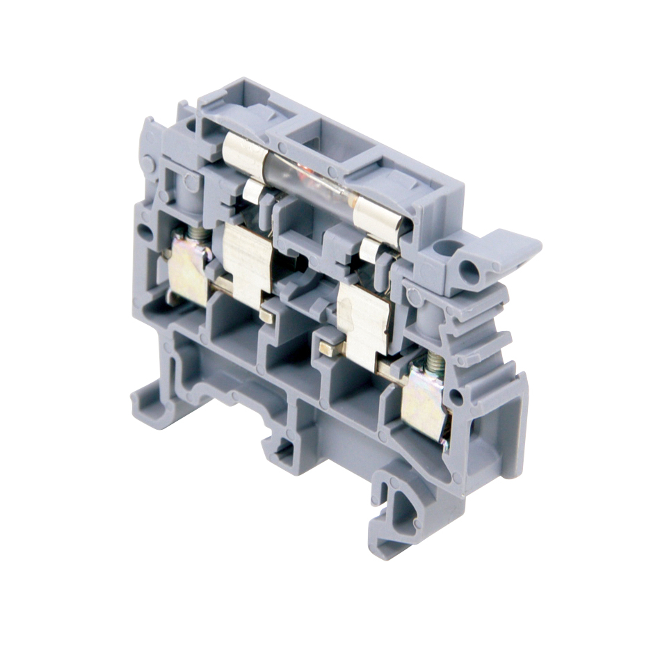 Gray body, neon lamp, fuse holder terminal blocks, with fusion ...