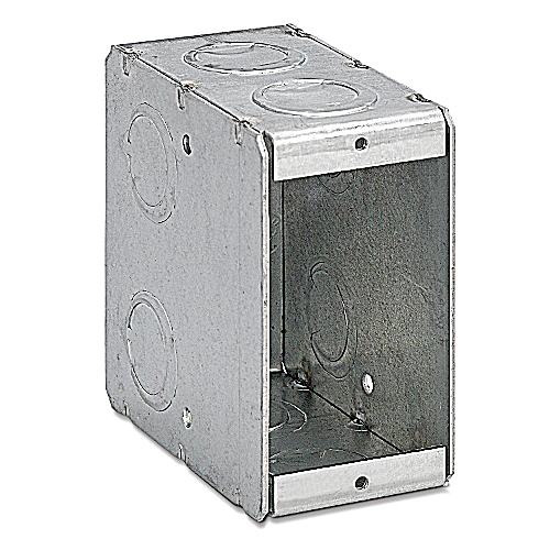 Bowers 1-MB Conduit Masonry Switch Box 3 3/4 in. x1 7/8 in. x 3 1/2 in.  Single Gang  1/2 in. and 3/4 in. Knockouts