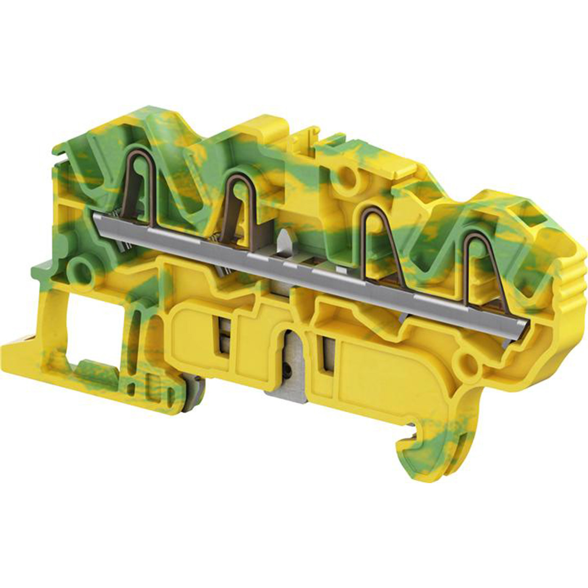 1SNK705152R0000 ABB ZK2.5-PE-4P 5MM 4POINT SPRING GROUND TO RAIL GREEN/YELLOW BLOCK 12AWG 600V