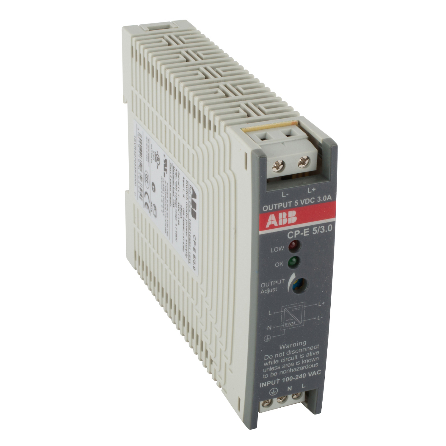 Power supply with 90 264 VAC or 120 375