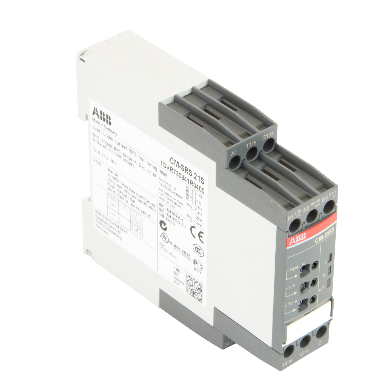 Most Popular Current Monitoring Relay Abb 1svr730841r0400