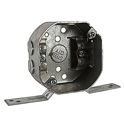 Steel City 24151-NV 3 1/2 in. Pre-Galvanized Steel Octagon Box