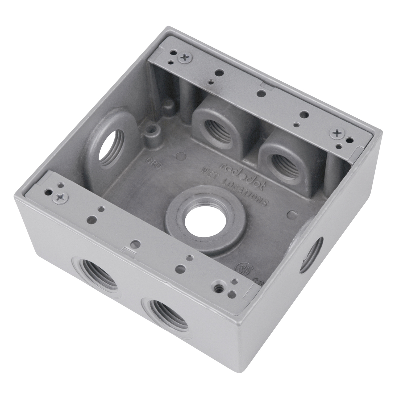 2 Thomas /& Betts SP411-G 2-Gang Box Covers Blank Silver Aluminum Waterproof 2CCB