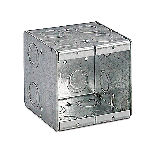 Thomas and Betts / Bowers 2-MB Two Gang Conduit Masonry Box; 3 3/4 In x 3 3/4 In x 3 1/2 In