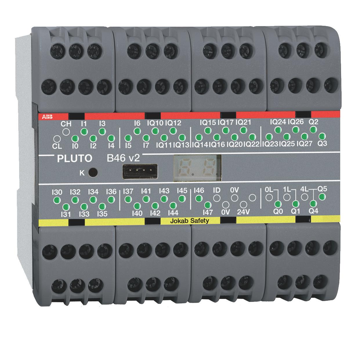 2TLA020070R1700 JOKAB PLUTO B46 V2 SAFETY-PLC