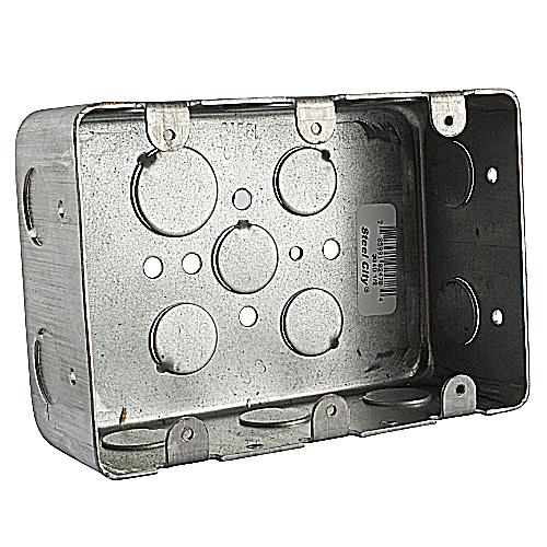 Steel City 3G4D-1/2 3-Gang Steel Device Box