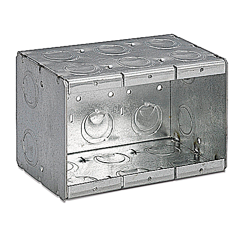 Thomas and Betts / Bowers 3-MB Steel Three Gang Conduit Masonry Box; 3 3/4 In x 5 1/2 In x 3 1/2 In