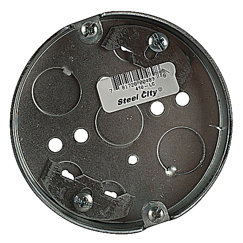 Bowers 410-LC 4 in. Steel Round Pancake Box