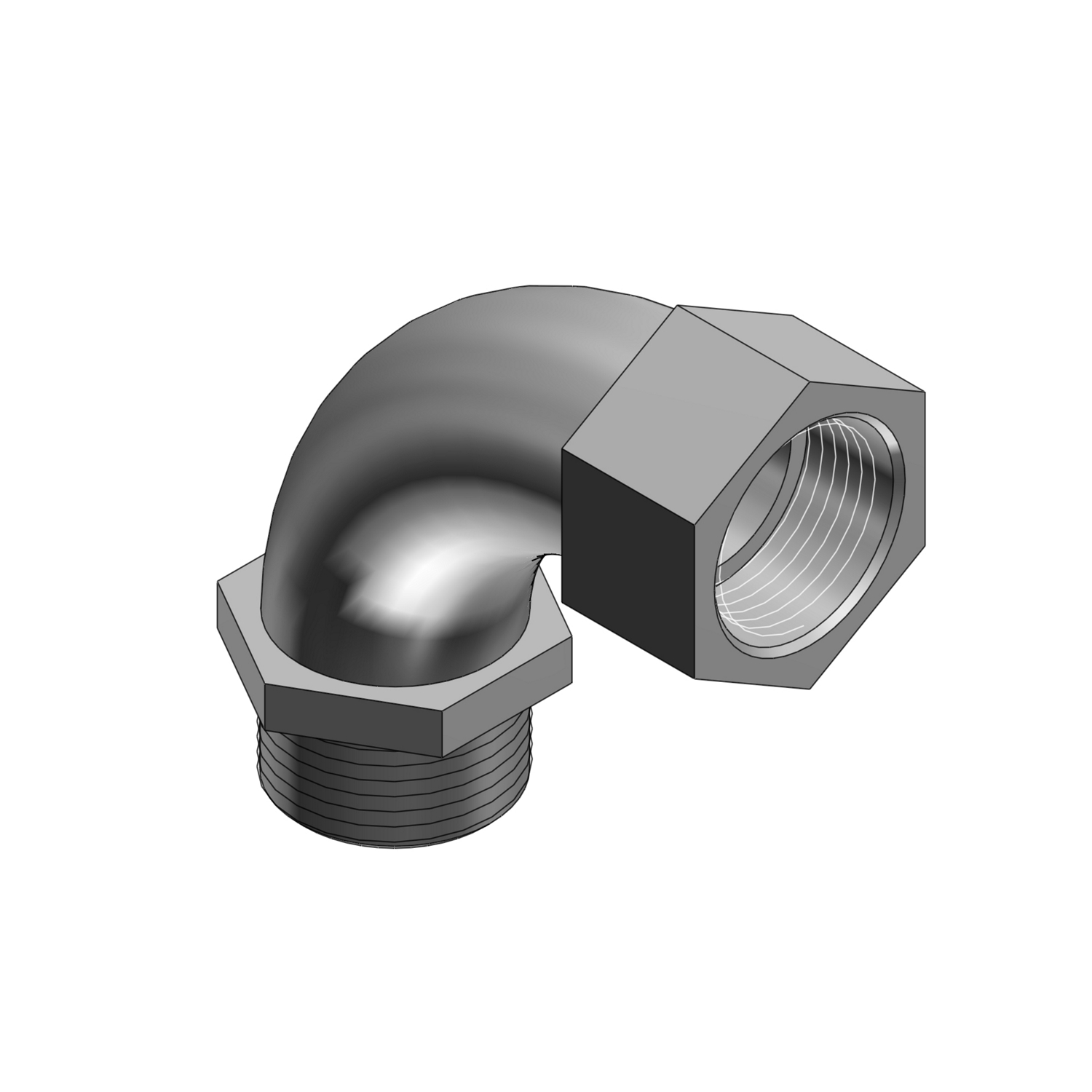 """T&B 462 90D 1"""" 90D Bushed Elbow,Malleable Iron. For use withRigid/IMC Conduit"""