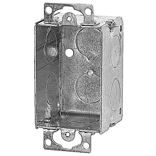 Bowers 51 Steel 1-Gang Switch Box w/ Ears; 2 In Depth