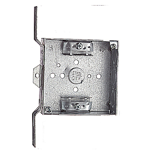 Steel City 52151-CVX 4 In Square Box w/ Bracket
