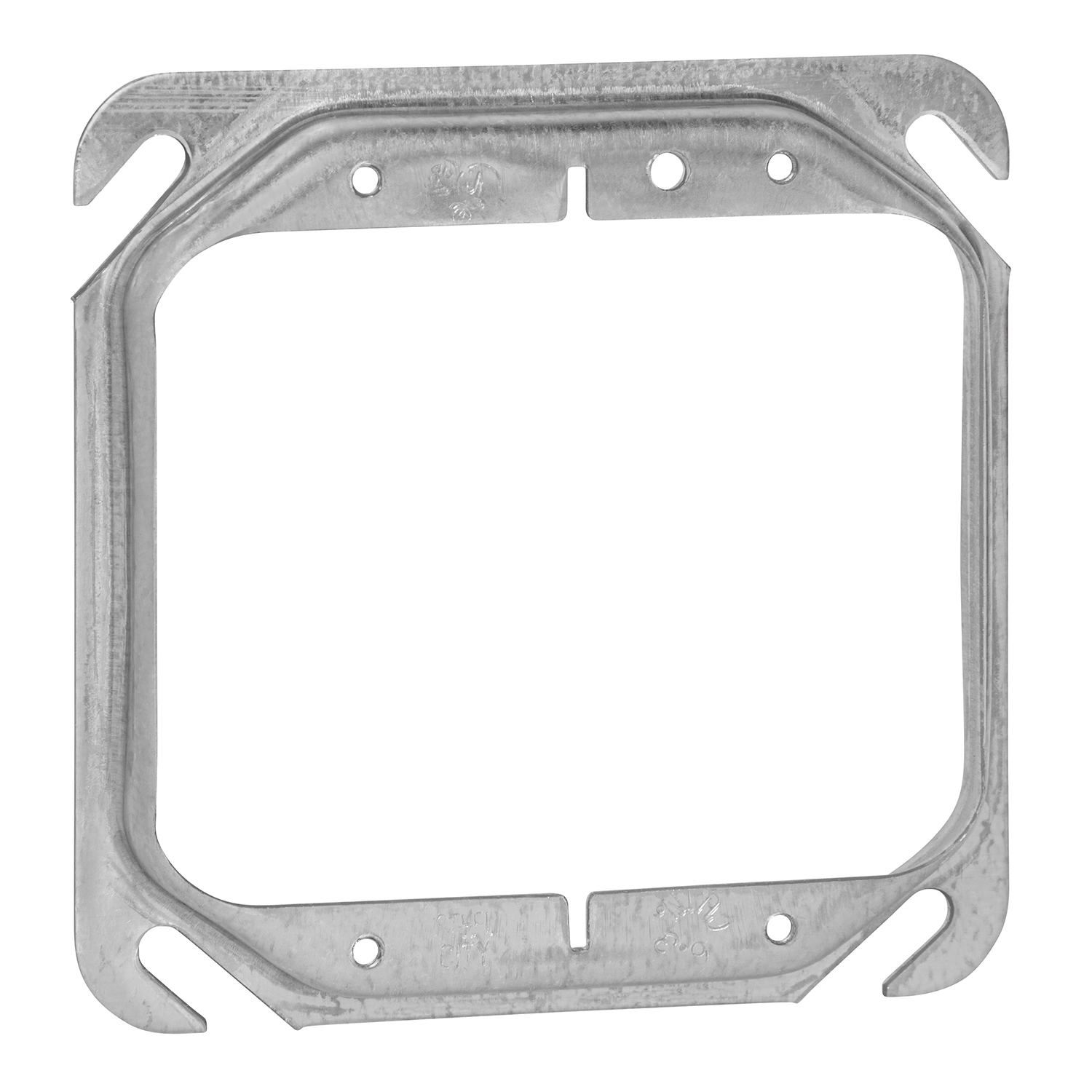 "STEELCTY 52C17-25 4"" SQUARE RING 2G, 1/2"" RAISED, 6.3CU"