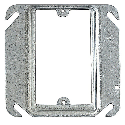 Steel City 52-C-13 4 in. Single Gang Square Box Device Cover, 1/2 in. Raised