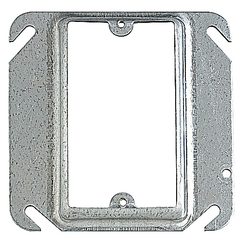 Steel City 52C14 4 In Single Gang Square Box Device Cover; Raised