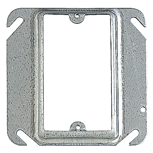 Steel City 52-C-15 4 In Pre-Galvanized Steel Square Box Device Cover; 1 In Raised